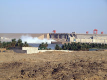 Dam of the Merowe hydroelectric power station Royalty Free Stock Image