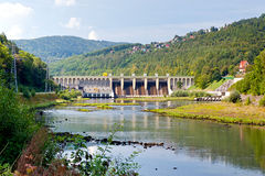 Dam in Miedzybrodzie Zywieckie Royalty Free Stock Photo