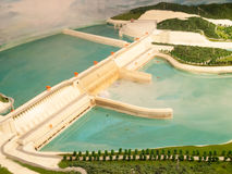 Dam model. Dam construction model in China Stock Images