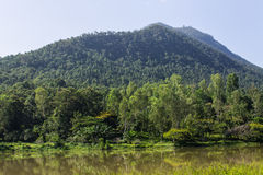 Dam And Mountain, Chiang Mai Northern Thailand. Beautiful Scener Royalty Free Stock Photography