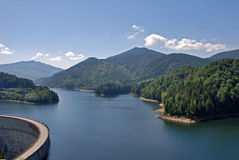 Dam in mountains Stock Image