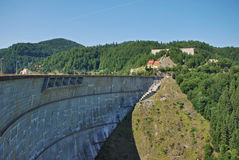 Dam in mountains Royalty Free Stock Photography