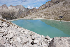 Dam between mountains Royalty Free Stock Photo