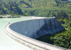 Dam in the mountains Royalty Free Stock Photo