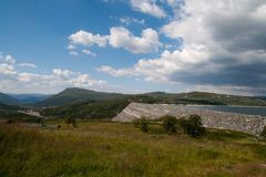 Dam in the mountains Royalty Free Stock Images