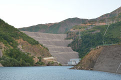 Dam in the mountains in Albania Stock Photo