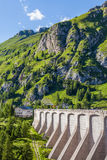 Dam in the mountains - Fedaia pass - Dolomites Stock Photo