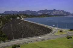 Dam and mountains Stock Photo