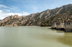 Dam in the mountains of the Pyrenees Stock Images