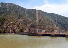 Dam in the mountains of the Pyrenees Stock Image