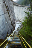 Dam in the mountains Royalty Free Stock Photography
