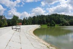 Dam in Myczkowce. Dam on the lake in Myczkowce (Bieszczady Mountains, Poland Royalty Free Stock Image