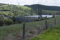 Dam of Myponga Reservoir, Myponga, South Australia Royalty Free Stock Photos