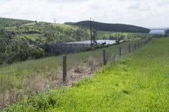 Dam of Myponga Reservoir, Myponga, South Australia Stock Photo