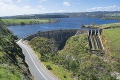 Dam of Myponga Reservoir, Myponga, South Australia Royalty Free Stock Photo