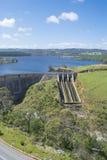 Dam of Myponga Reservoir, Myponga, South Australia Royalty Free Stock Image