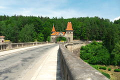 Dam. Named as Les Kralovstvi in Czech republic Royalty Free Stock Photos