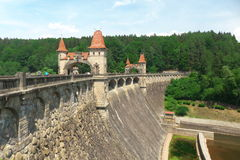 Dam. Named as Les Kralovstvi in Czech republic Royalty Free Stock Photography