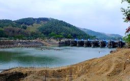 """Dam named """"Bendung Gerak Serayu"""",. Dam named """"Bendung Gerak Serayu"""",  under renovation, located on a  Serayu river, Indonesia Stock Images"""