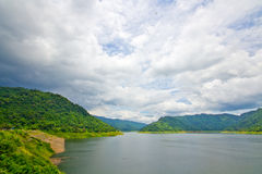 Dam and national park in thailand Stock Image