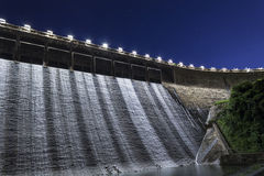 Dam at night Stock Photo