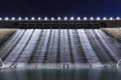 Dam at night Stock Photos