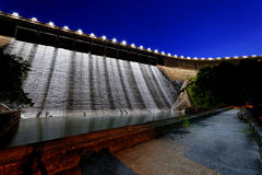 Dam at night Royalty Free Stock Photos