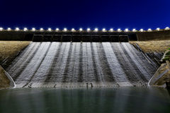 Dam at night Stock Image