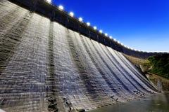 Dam at night Royalty Free Stock Photo