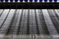 Dam at night Stock Images