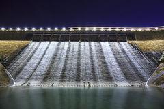 Dam at night in Hong Kong Stock Images