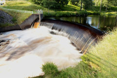 A dam in Nissafors - Sweden Royalty Free Stock Image