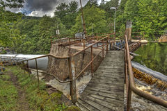 Dam of the old hydroelectric power station in HDR Royalty Free Stock Photos
