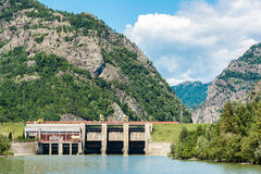 Dam On Olt River Royalty Free Stock Photo
