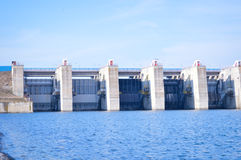 Dam on Olt river, Romania Stock Photos