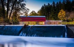 Dam op de Behandelde Brug van Marsh Creek en van Sach, dichtbij Gettysburg stock afbeelding