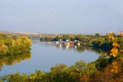 Dam op de rivier Stock Foto