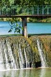 Dam op de rivier Royalty-vrije Stock Foto's