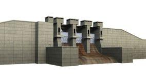 Dam op Witte Achtergrond wordt geïsoleerd die Royalty-vrije Stock Foto