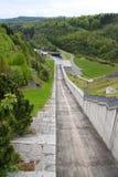 Dam outfall Royalty Free Stock Photos