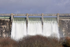Dam over Zadorra river, Alava (Spain) Royalty Free Stock Images