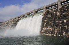 Dam over Zadorra river (Spain) Stock Image