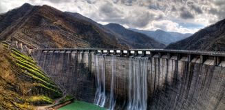 Dam with overflow Royalty Free Stock Image