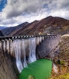Dam with overflow Stock Photos
