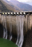 Dam with overflow Stock Photography