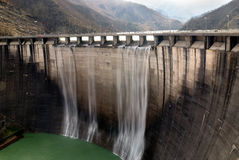 Dam with overflow Royalty Free Stock Photography