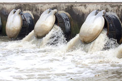 Dam overflow spillway Stock Photos