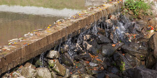 Dam Overflow Royalty Free Stock Images