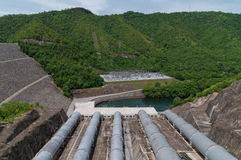 Dam overview. Stock Image