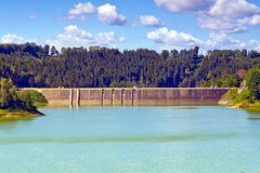 Dam in Pilchowice Stock Foto